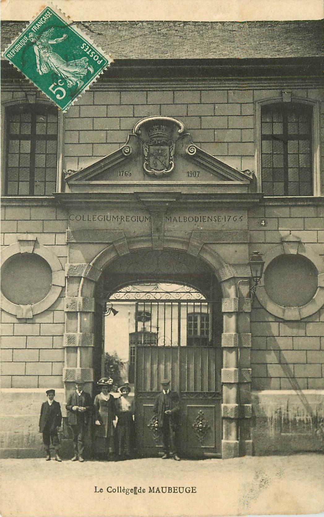 WW 59 MAUBEUGE. Le Collège 1917