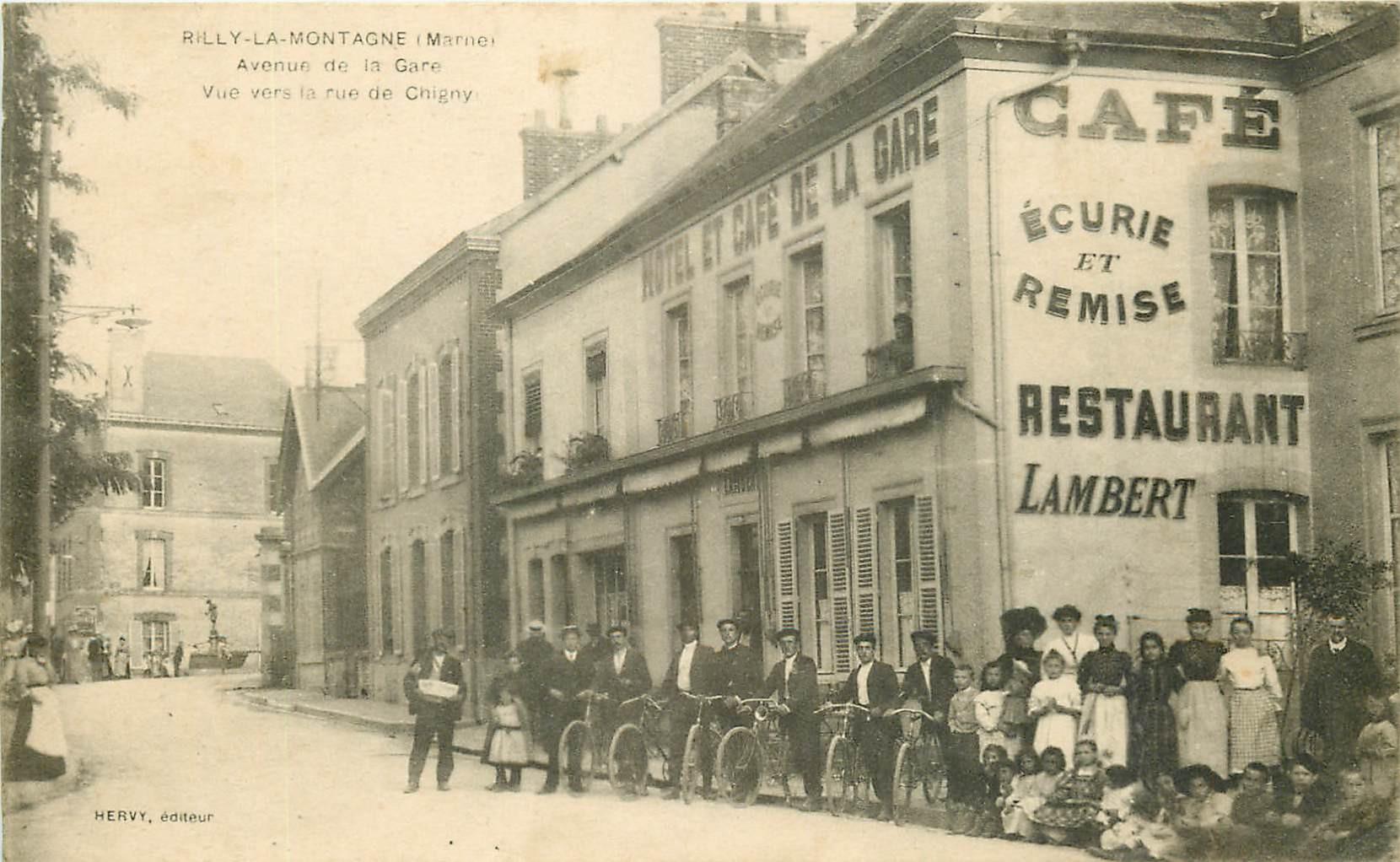 WW 51 RILLY-LA-MONTAGNE. Cyclistes Café Hôtel Restaurant avenue de la Gare rue de Chigny