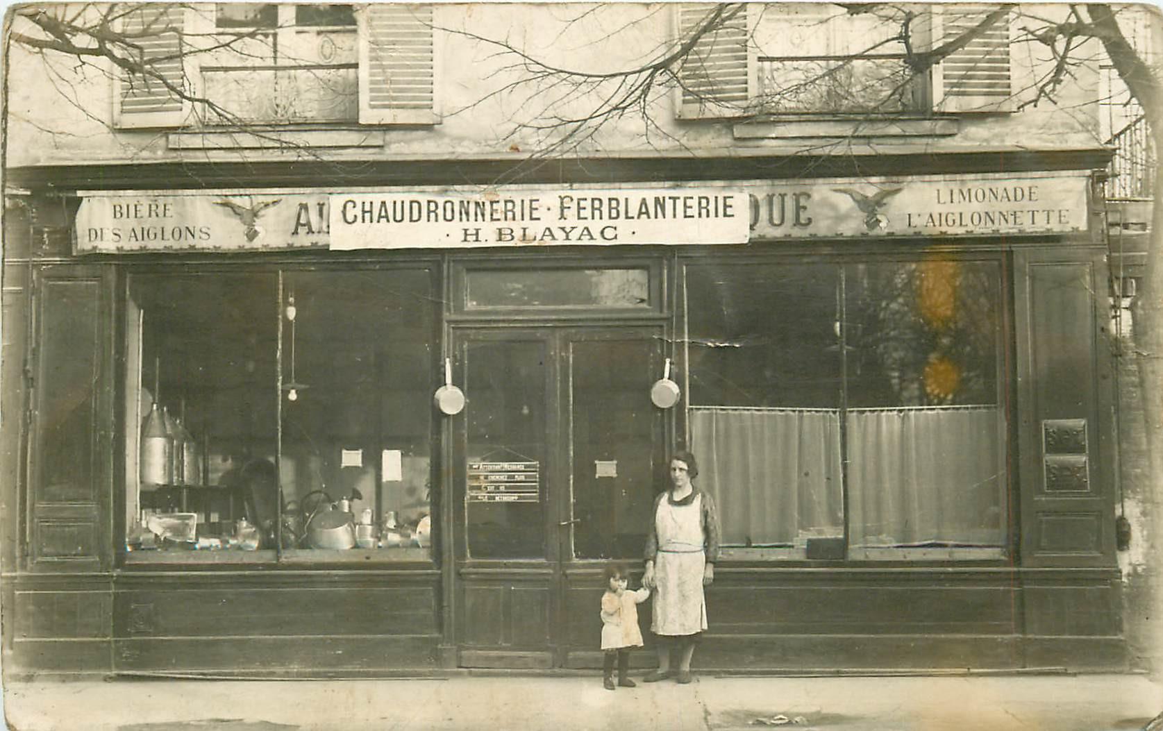 PARIS XII. Chaudonnerie Ferblanterie Blayac au 92 Boulevard Diderot