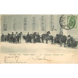 WW RUSSIE. Types Russes avec leurs Troïkas 1907
