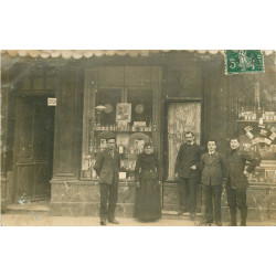 WW 26 MONTELIMAR. Coiffeur Villeneuve. Photo carte postale 1909 rare