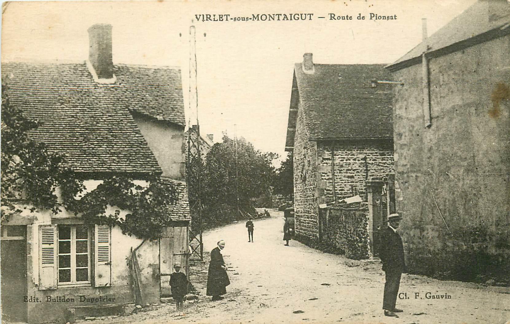 WW 63 VIRLET-SOUS-MONTAIGUT. Route de Pionsat