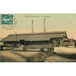 WW 63 PUY-GUILLAUME. La Verrerie 1908. Carte postale ancienne toilée