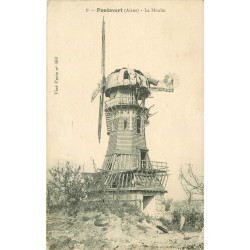 WW 02 PONTAVERT. Le Moulin à vent 1918