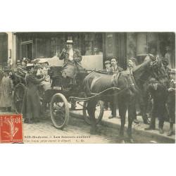 PARIS. Les Femmes Cochers. Une bonne prise avant le Départ 1907 Taximètre