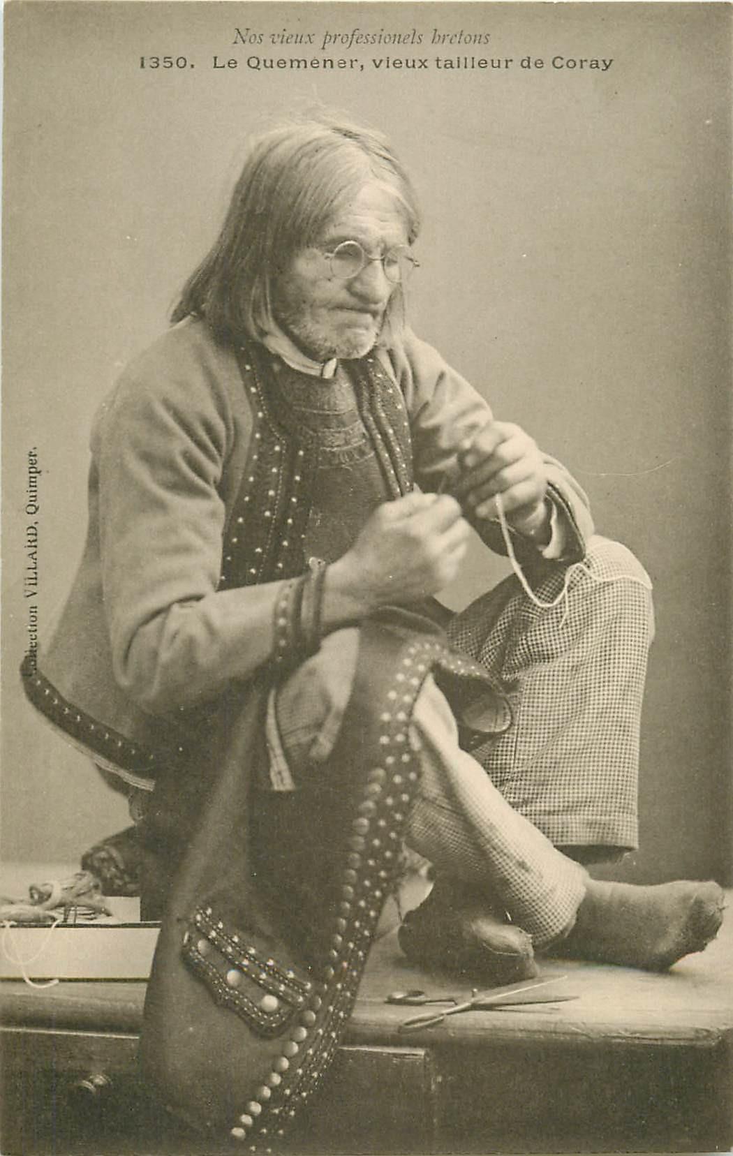 WW LA BRETAGNE. Le Quemener vieux Tailleur de Coray vers 1900