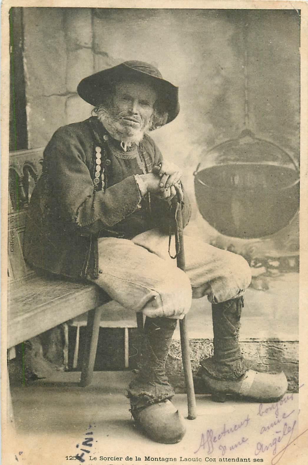WW LA BRETAGNE. Le Sorcier de la Montagne Laouic Coz vers 1904