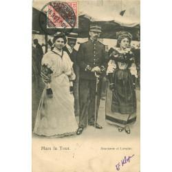 WW ALSACE LORRAINE. Mars la Tour. Jeunes filles et Officier du 79° Régiment 1907