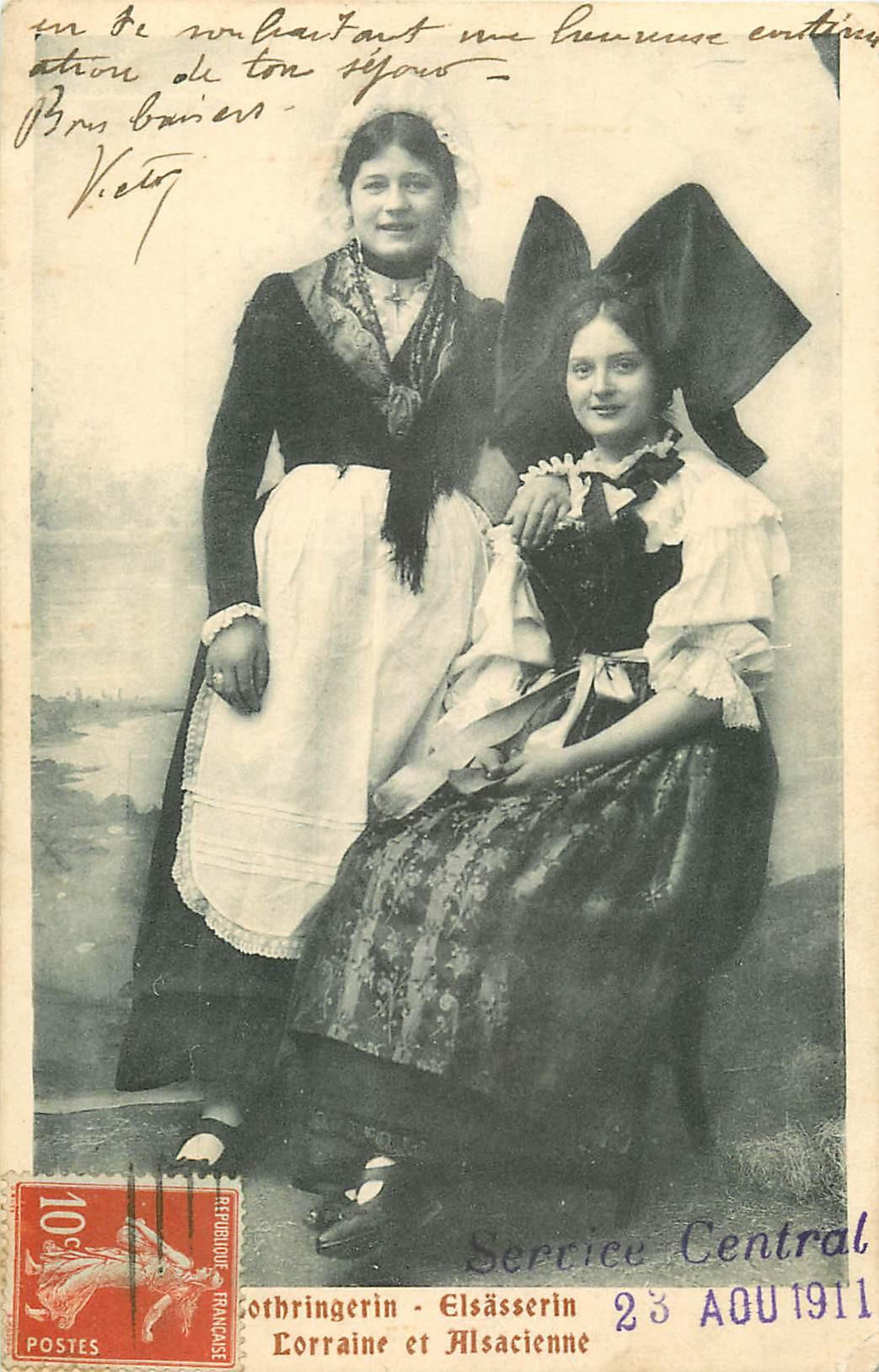 WW ALSACE LORRAINE. Lothringerin & Elsässerin 1911