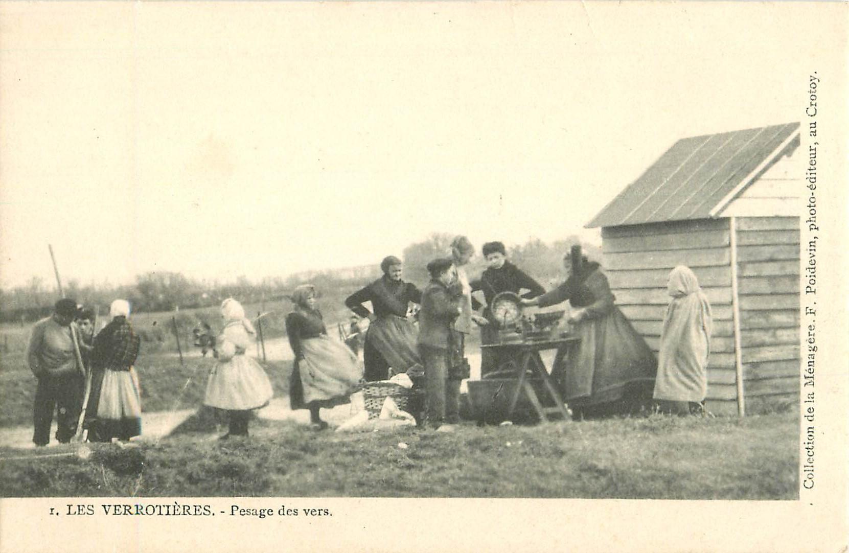 WW 80 LE CROTOY. Les Verrotières avec le Pesage des vers