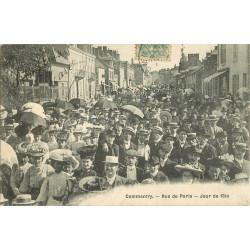 WW 03 COMMENTRY. Rue de Paris Jour de Fête 1906