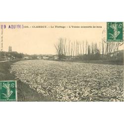 WW 58 CLAMECY. Le Flottage avec l'Yonne couverte de bois en 1911
