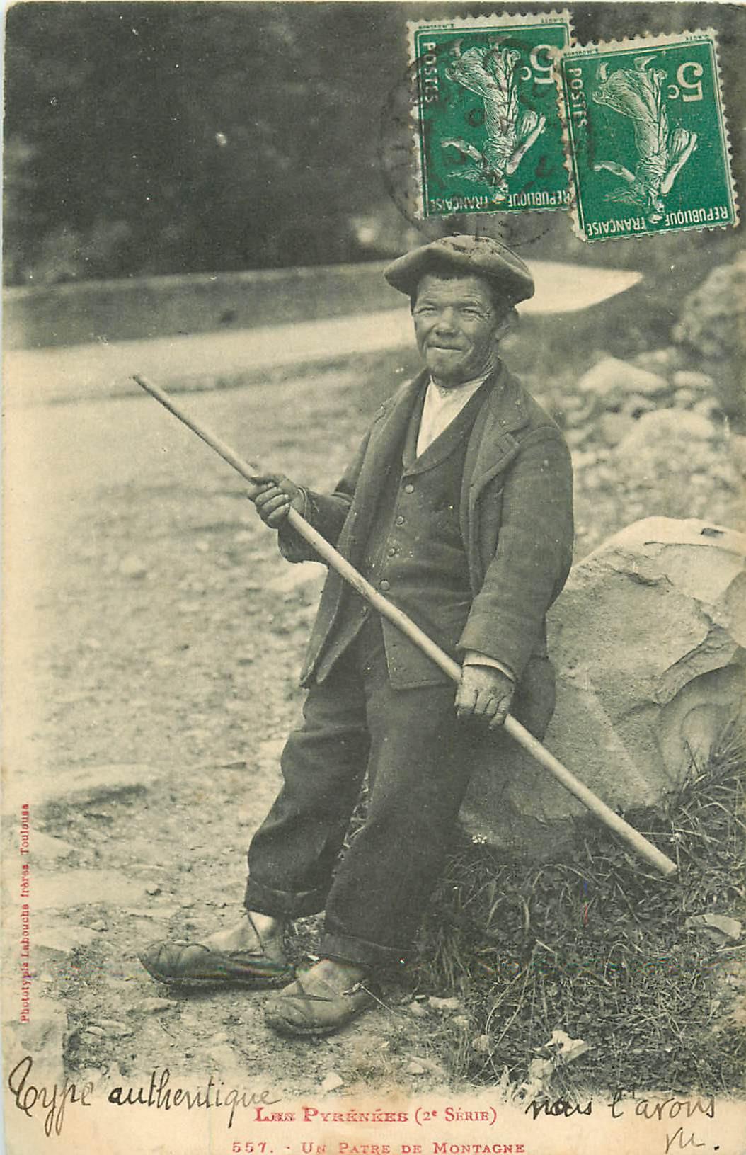 WW LES PYRENEES. Un Pâtre de Montagne 1912