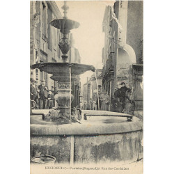 WW 24 EXCIDEUIL. Fontaine Bugeaud rue des Cordeliers 1917