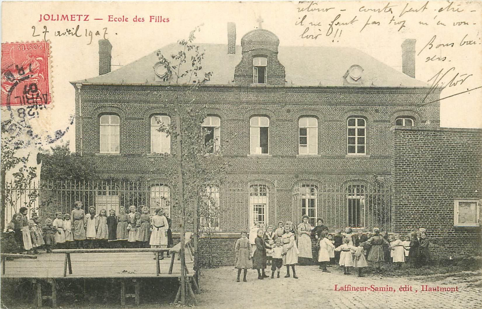 WW 59 JOLIMETZ. Rondes à l'Ecole des Filles et une Chorale 1907
