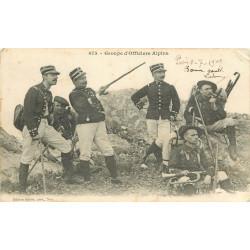 WW MILITAIRES. Groupe d'Officiers de Chasseurs Alpins 1909