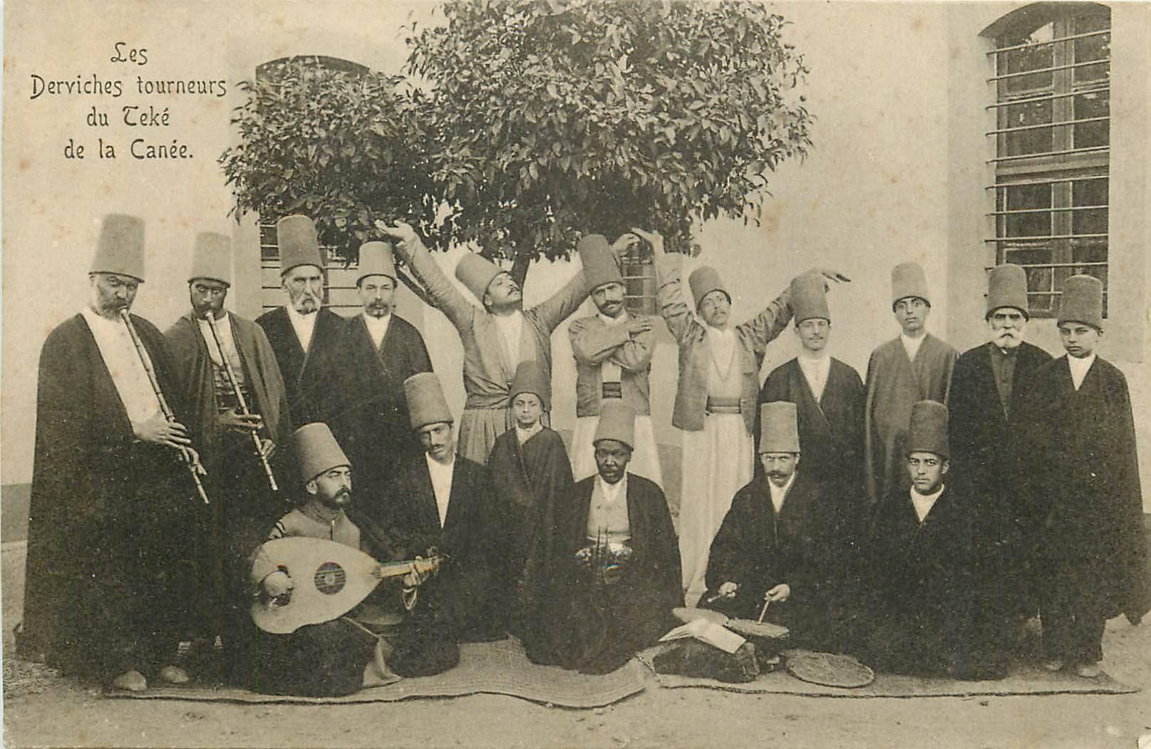 WW CRÊTE GRECE. Les Derviches Tourneurs de Teké de la Canée vers 1900