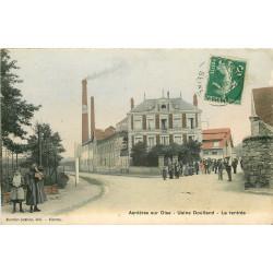 WW 95 ASNIERES-SUR-OISE. La rentrée à l'Usine Doulland & Derolland route de Royaumont 1908