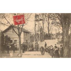 WW 78 LE VESINET. Les Sapeurs Pompiers à l'exercice 1907