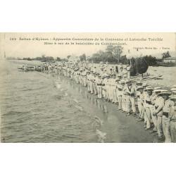 WWWW 83 SALINS D'HYERES. Apprentis Canonniers de la Couronne et Latouche Tréville. Baleinière 1915