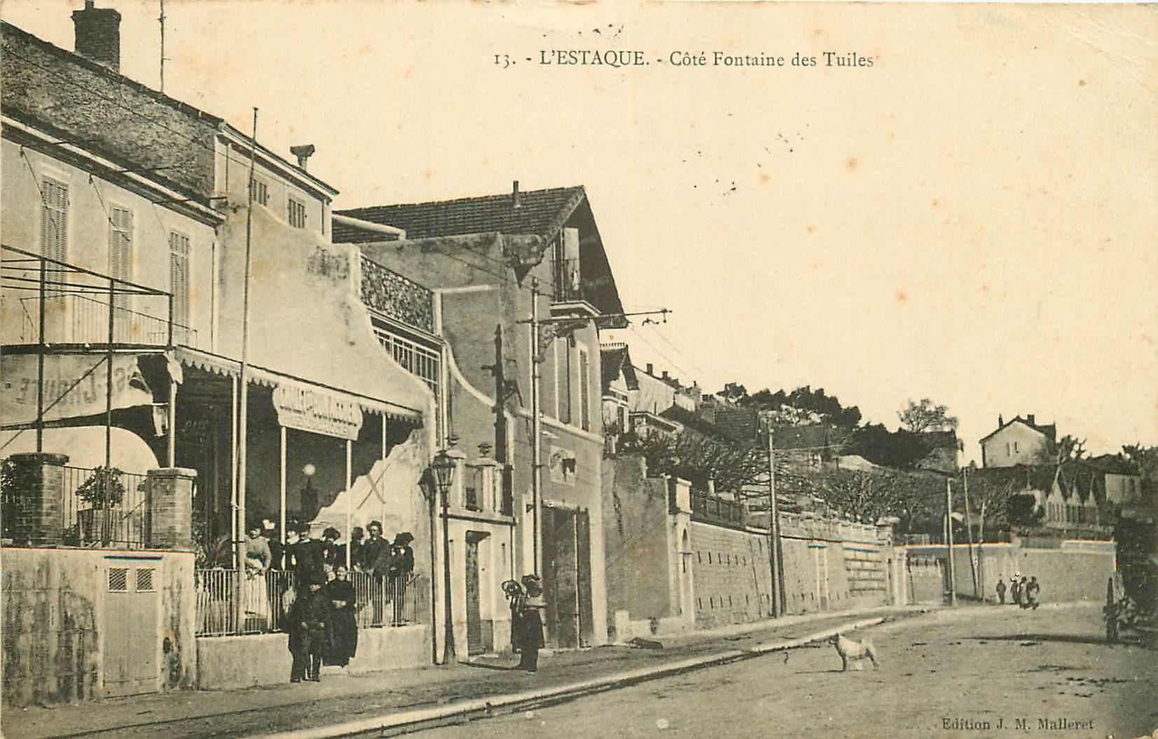 WW 13 L'ESTAQUE. Café Restaurant Chalet côté Fontaine des Tuiles 1911
