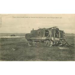 WW 02 JUVINCOURT. Tanks chars blindés restés sur l'ancien front Guerre 1918