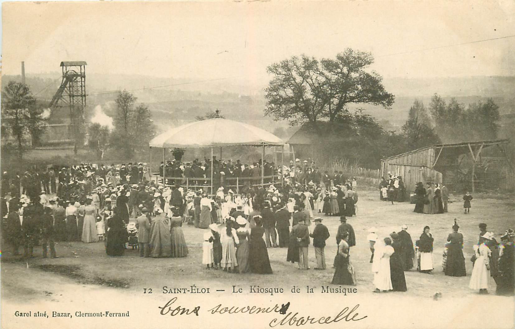 WW 63 SAINT-ELOI LES MINES. Le Kiosque de la Musique 1903