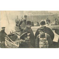 PARIS. Crue Seine 1910. Ruau Ministre Agriculture et Fallières Président République