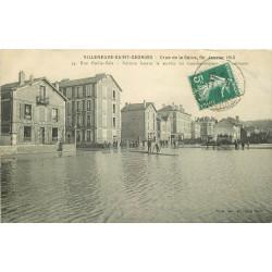 WW 94 VILLENEUVE-SAINT-GEORGES. Inondation Crue 1910 Rue Emile Zola transbordements
