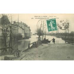 WW 94 VILLENEUVE-TRIAGE. Inondation Crue 1910 le Grand mat