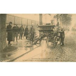 WW PARIS. Crue Seine 1910. Sapeurs Pompiers Caves Halle Vins à Bercy
