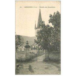carte postale ancienne 02 SISSONNE. Entrée du Cimetière 1907