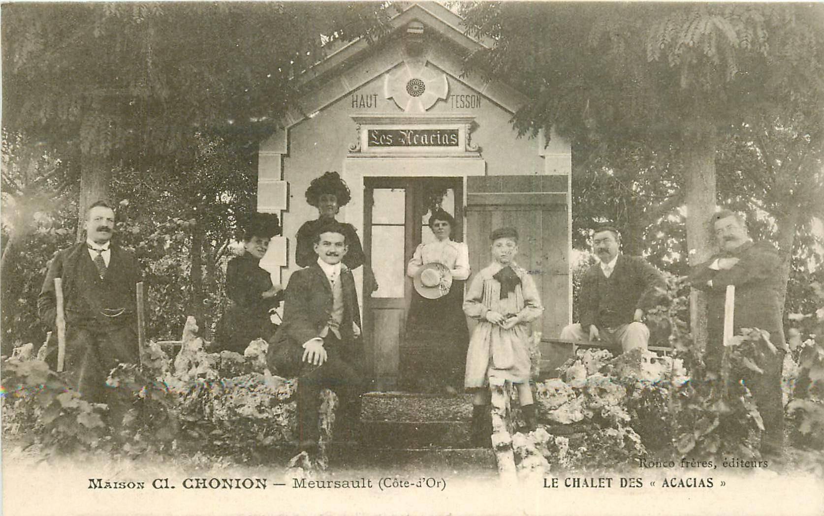 WW 21 MEURSAULT. Maison Chonion Le Chalet au Clos des Acacias. Vins et Vignes