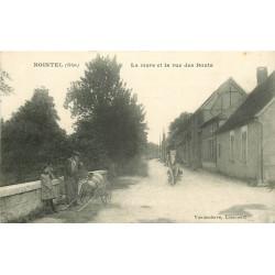 WW 60 NOINTEL. Habitant remplissant son tonneau sur le Pont à la Mare et rue des Bouts