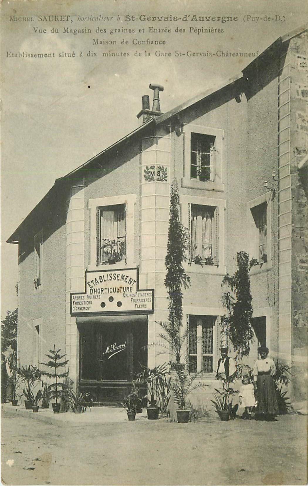 WW 63 SAINT-GERVAIS-D'AUVERGNE. Sauret horticulteur Maison de confiance