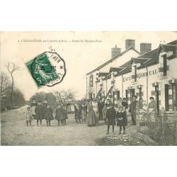 WW 18 L'ECHALUSSE. Café Godivau Route du Rendez-Vous 1909