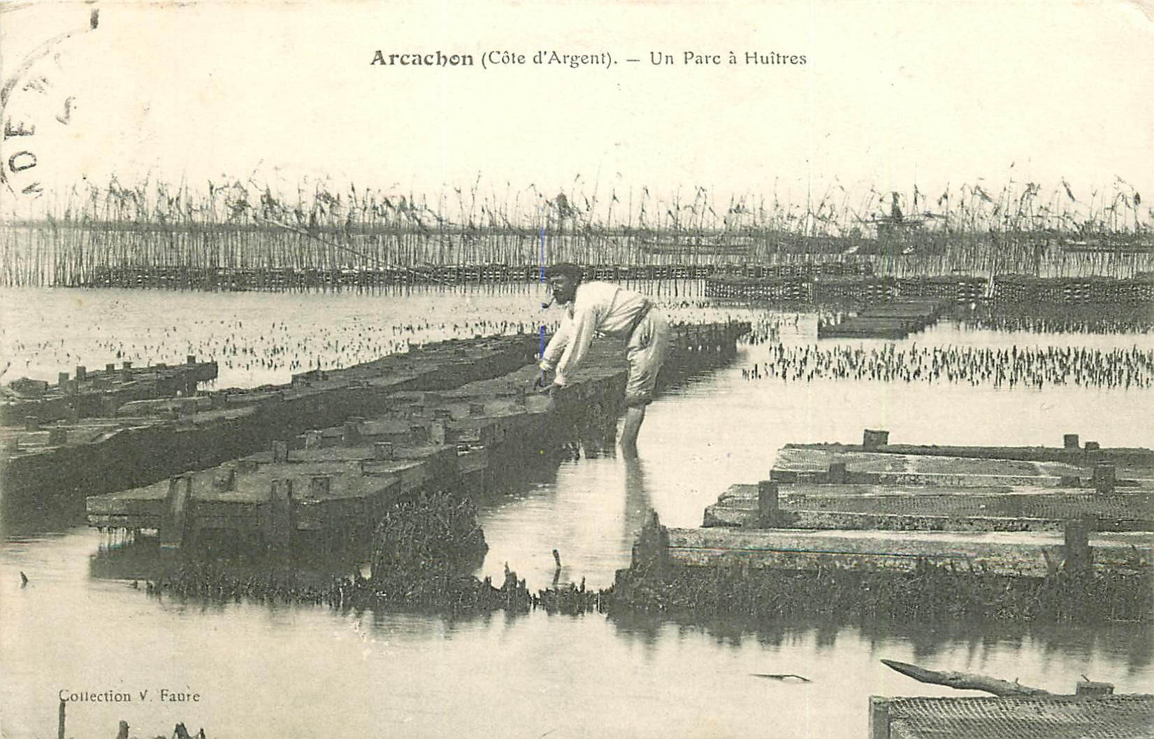 33 ARCACHON. Un Parc à Huîtres 1908