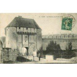 carte postale ancienne 14 CAEN. Top Promotion Porte du Château 1909