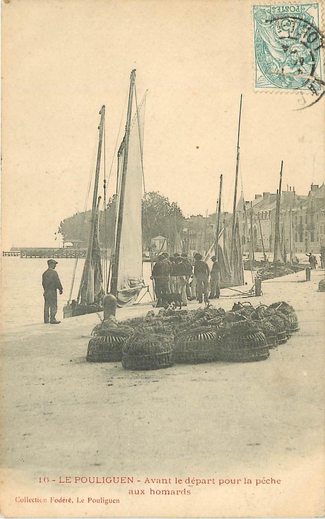 44 LE POULIGUEN. Avant le départ pour la Pêche aux Homards 1904