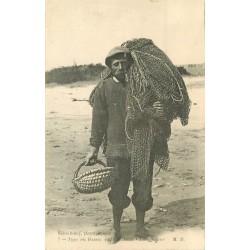 33 ARCACHON. Un Pêcheurs de Poissons et Crustacés