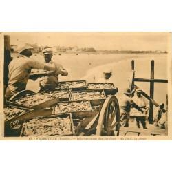 85 FROMENTINE. Débarquement des Sardines sur la Plage vers 1930