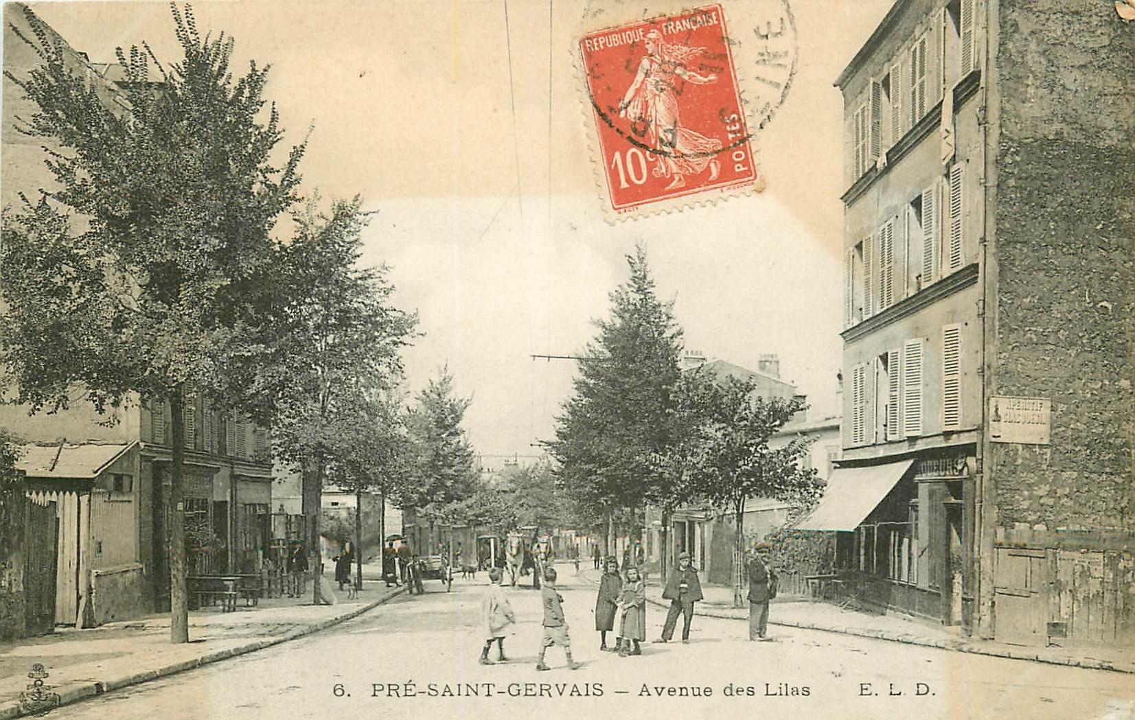 WW 93 LE PRE-SAINT-GERVAIS. Bistrot Buvette Avenue des Lilas 1911