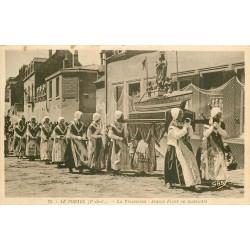 WW 62 LE PORTEL. Procession jeunes Fille matelotes 1951