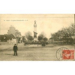 carte postale ancienne 14 CAEN. Top Promotion Place Alexandre III 1908