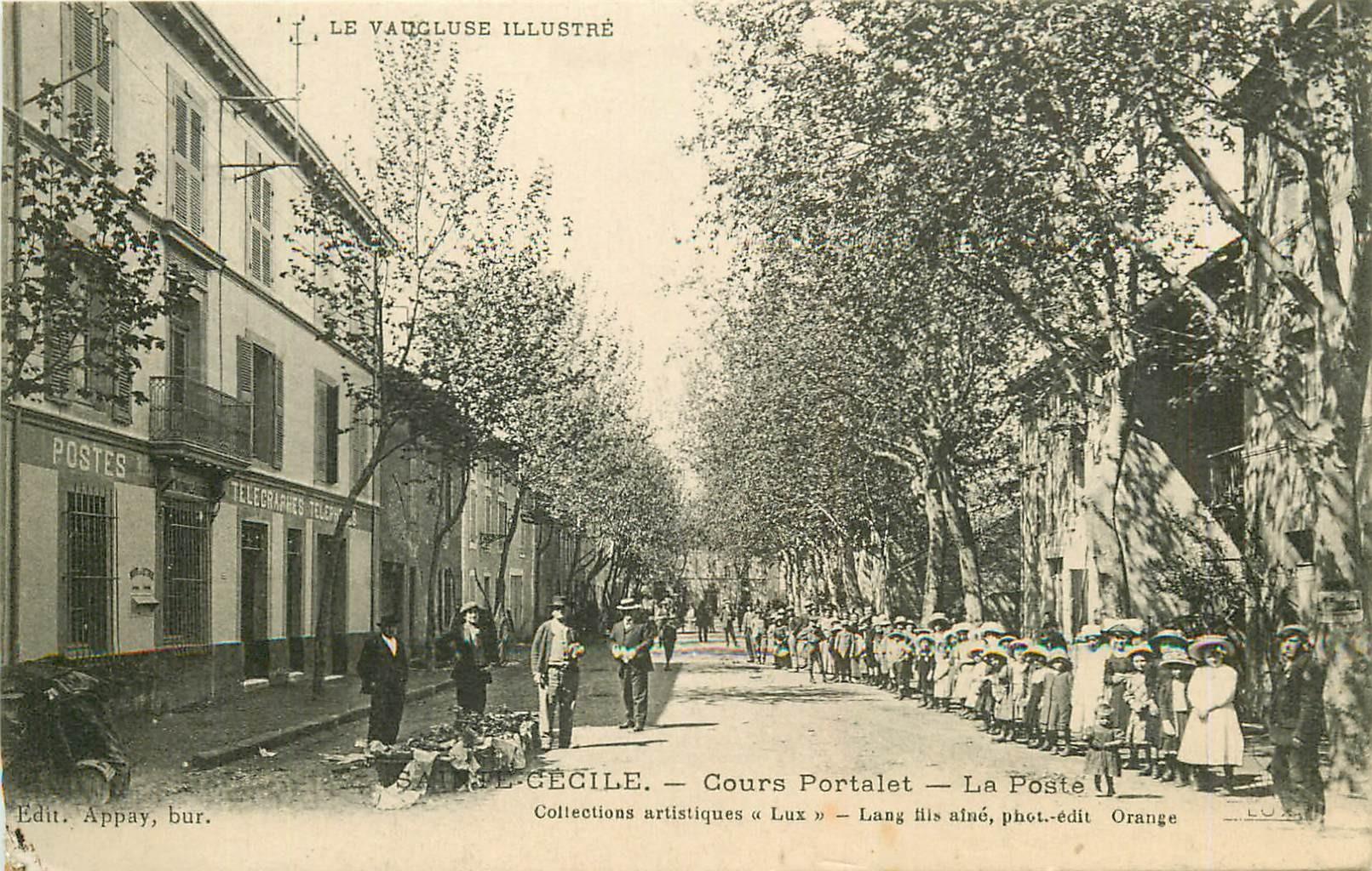 WW 84 SAINTE-CECILE. La Poste & Télégraphes Cours Portalet vers 1916