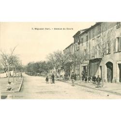 WW 83 REGUSSE. Café sur l'Avenue du Cours