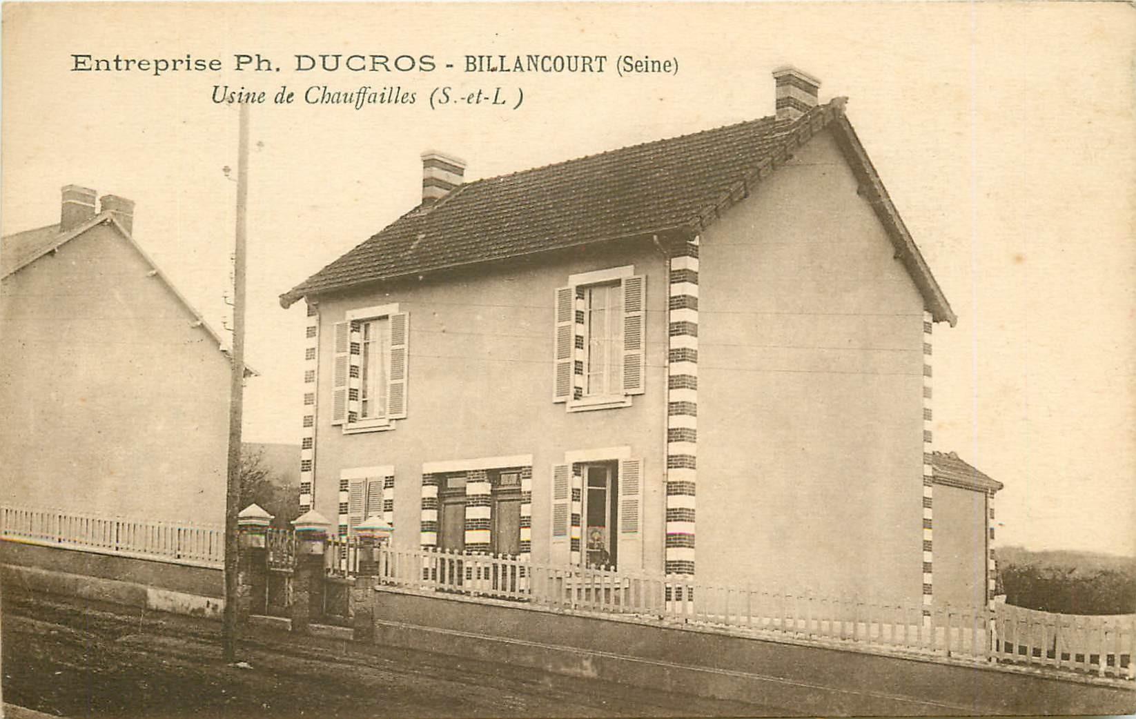 WW 71 BILLANCOURT. Usine de Chauffailles de l'Entreprise Ducros