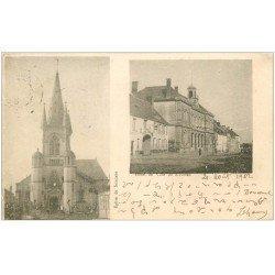 carte postale ancienne 02 SISSONNE. Hôtel de Ville 1902. Ecriture codée