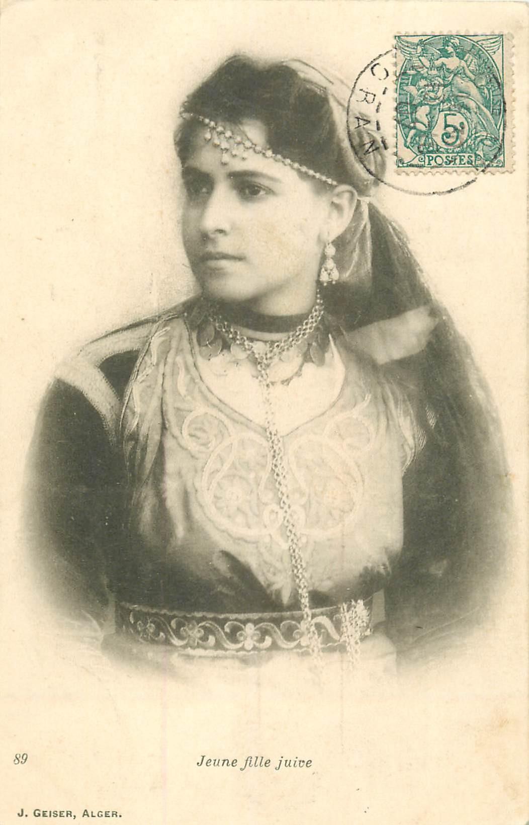 WW ALGERIE. Jeune fille Juive 1907
