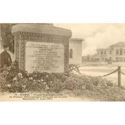 WW Plaque Commémorative du Premier Débarquement français sur la Terre Marocaine 1907